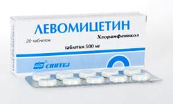 Лечение колита левомицетином